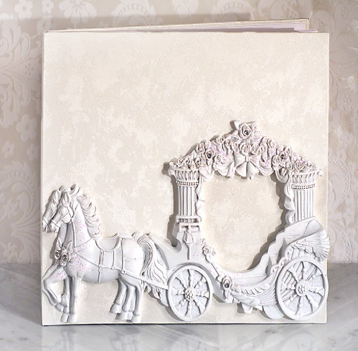 Enchanted White Wedding Coach Guest Book