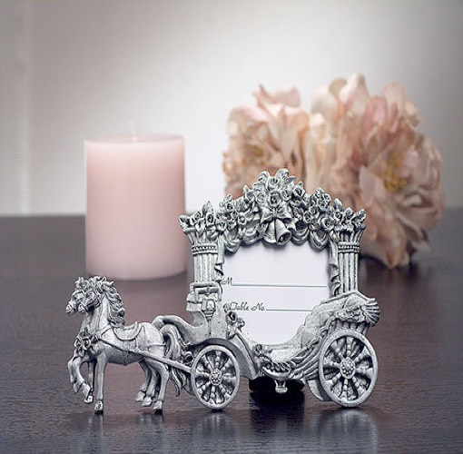 2X3 Pewter Finish Place Card Frame Wedding Coach. UNAVAILABLE