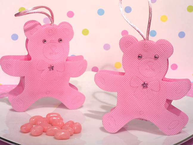 CAS-303 - Cute Pink Teddy Bear Bag / Holder