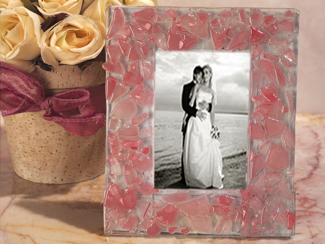 Pink Pebble Design Photo Frame