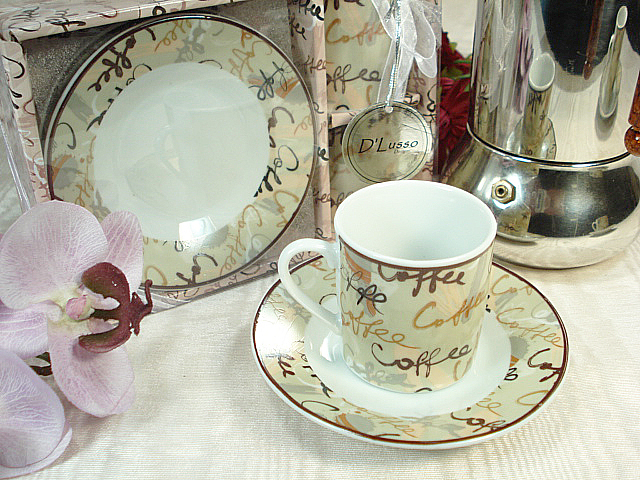Espresso set favor for two